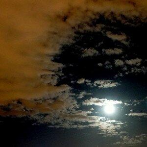 noc i księżyc