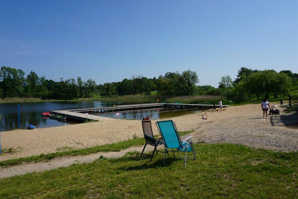folwark łękuk widok na plażę miejsca dobre dla dzieci i dorosłych