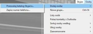 screenshot skype jako niania dodanie do kontaktow