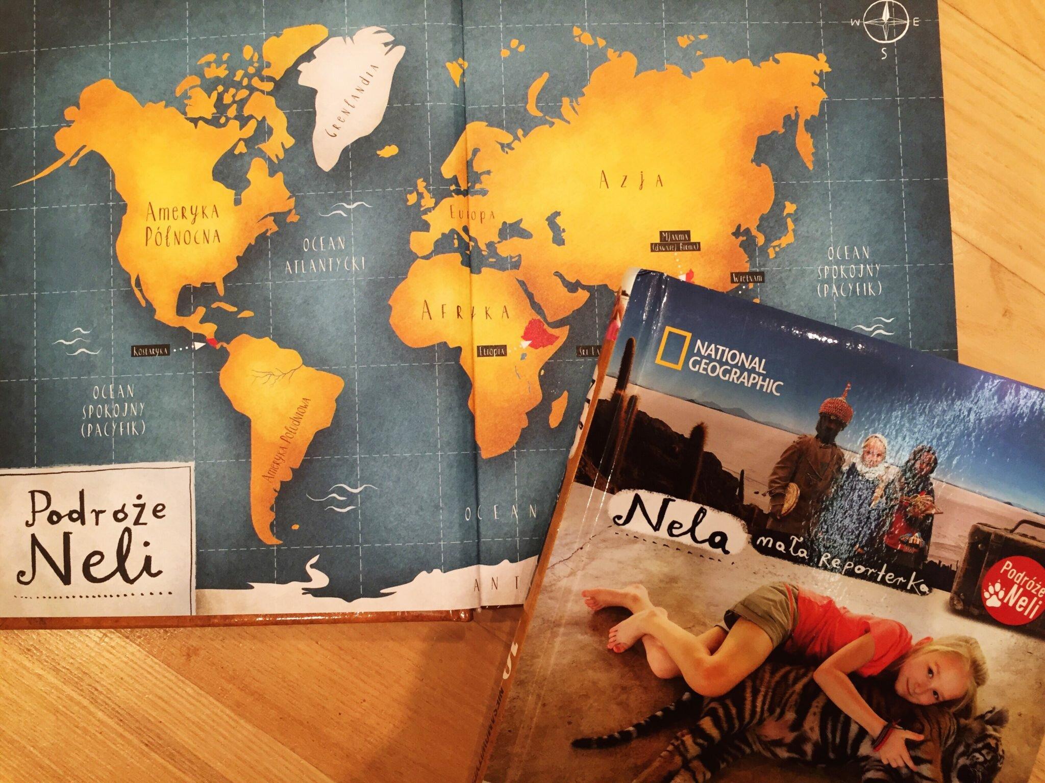 zdjęcie mapy i książki Nela mała reporterka książki dla dziewczynek czy książki dla dzieci
